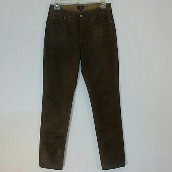 NYDJ Denim - NYDJ Skinny Sheri Terra Tan Brown Jeans Size 6 EUC